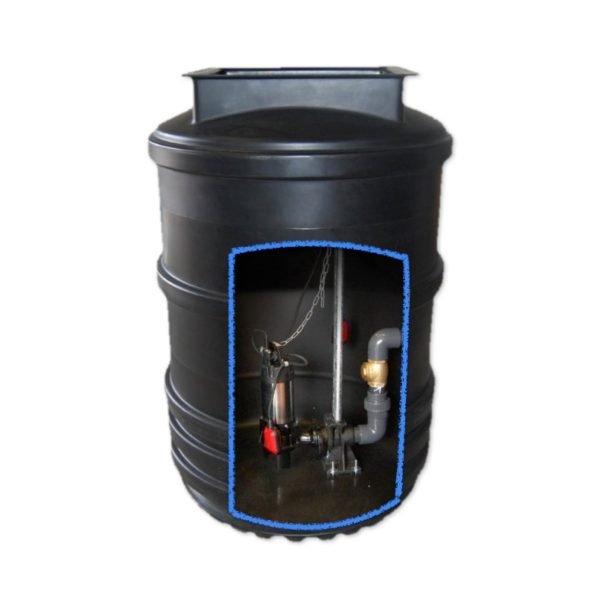 1200 litre sewage pumping station