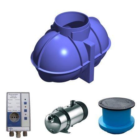 1800 litre rainwater harvesting system 1