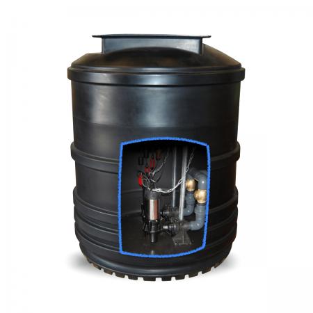2400 litre twin sewage pumping station
