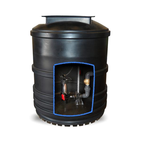 2600L-sewage-pumping-station, single pump