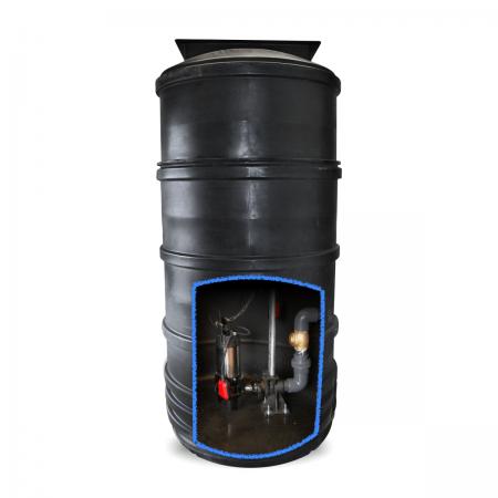single pump sewage pumping station