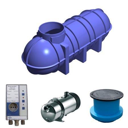 3400 litre rainwater harvesting system