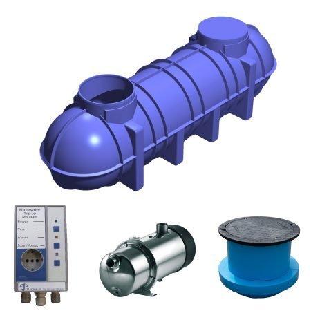 4400 litre rainwater harvesting system