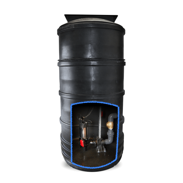 4400L sewage pumping station