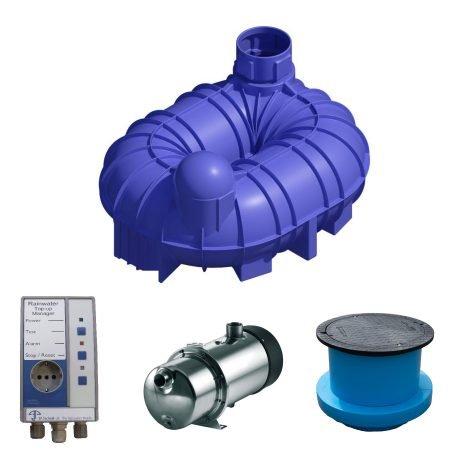 6800 litre rainwater harvesting system