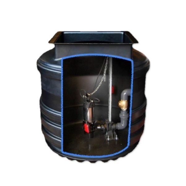 800 litre sewage pumping station