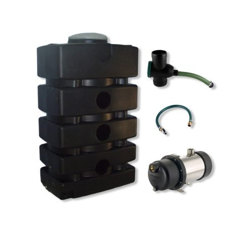 above ground rainwater harvesting system 1500 litre exterior pump
