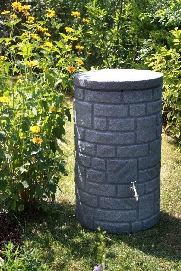 arcado water butt in garden