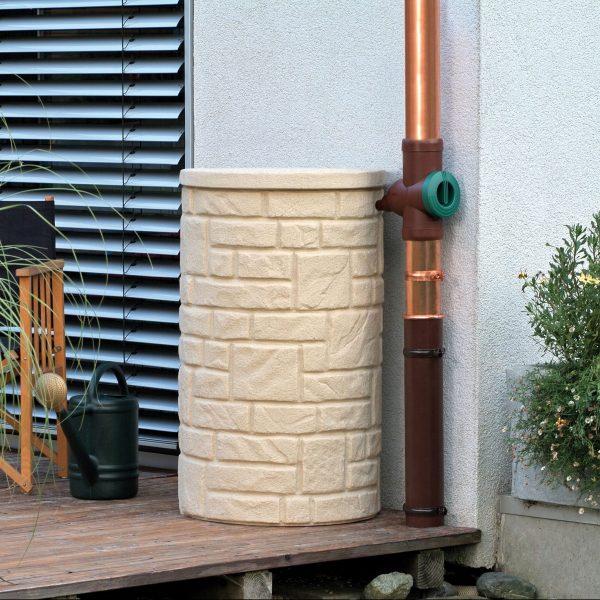 arcardo water butt sandstone on deck