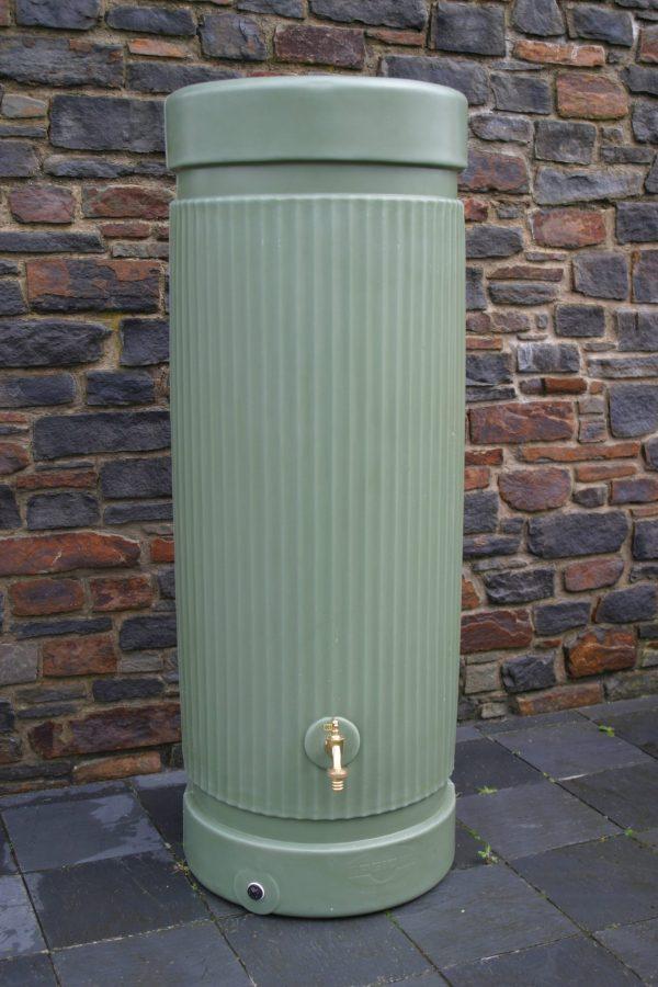 water butt 300 litre column green