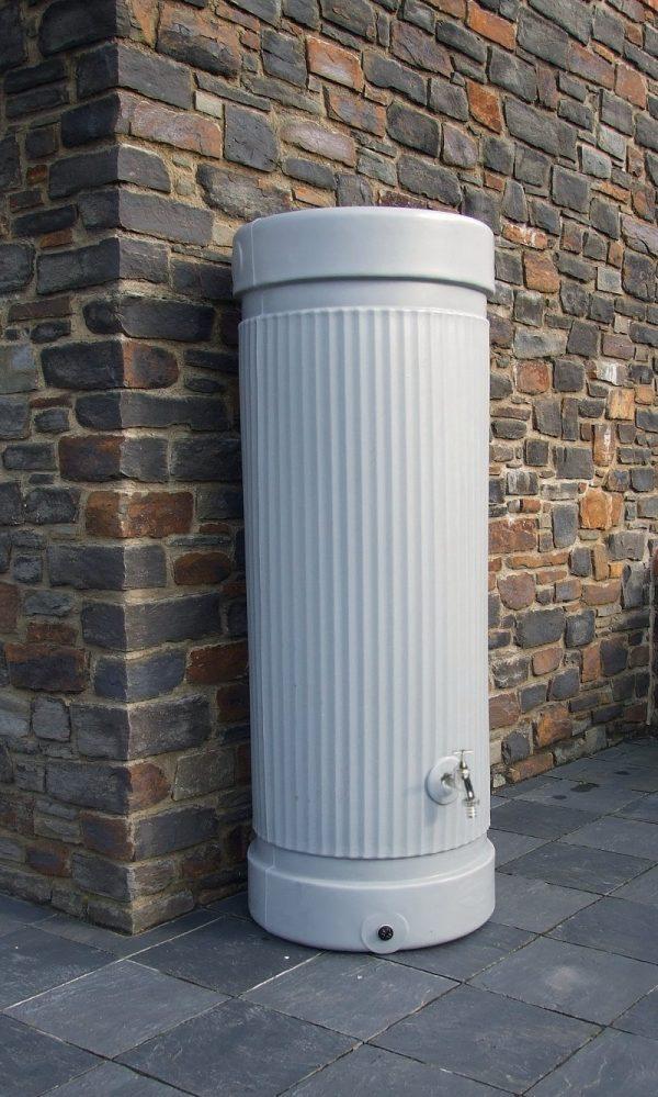 water butt, column, grey.