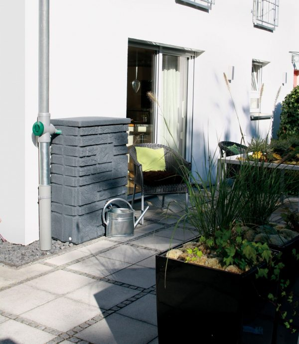 water butt 300 litre maurano charcoal patio