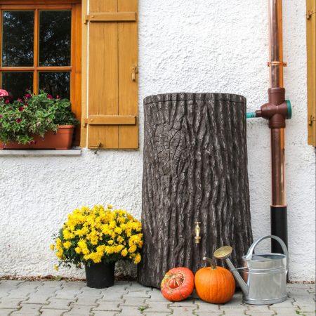 water butt 475 litre evergreen pumpkin