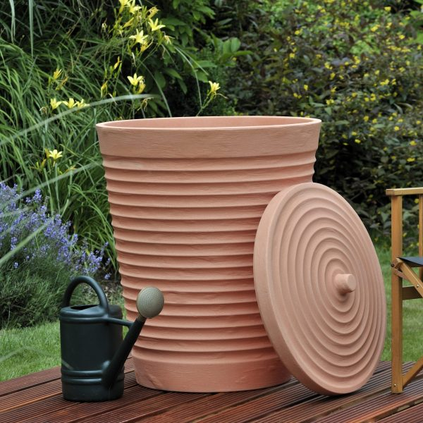water butt Tuscan Terracotta 275 litre watering can
