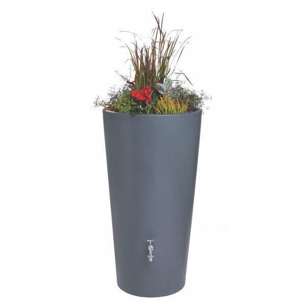 rain bowl flower with flowers blue grey granite