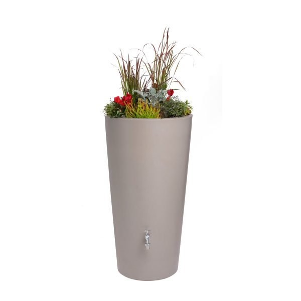 rain bowl flower with flowers taupe