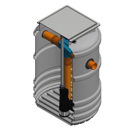 1000 litre underground garden rainwater harvesting system
