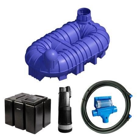 10000 litre gravity fed rainwater harvesting system