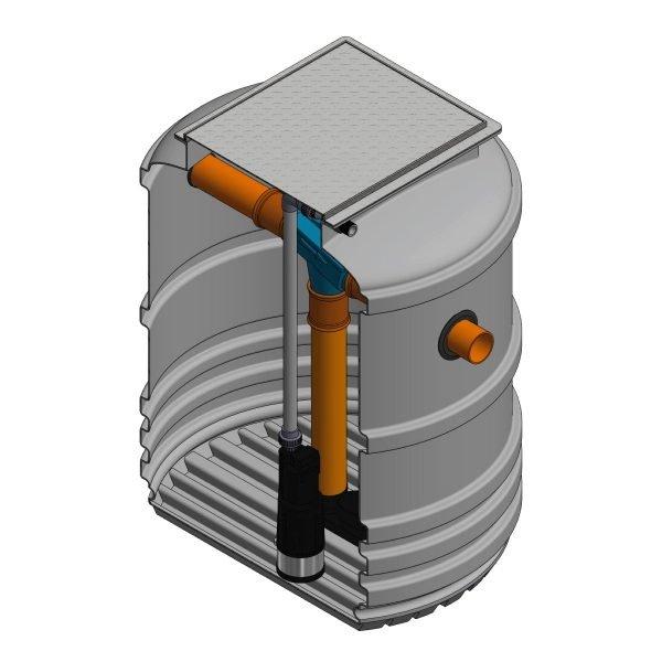 1400 litre underground garden rainwater harvesting system