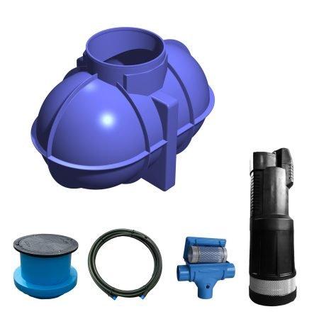 1800 litre garden rainwater harvesting system
