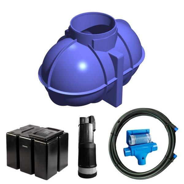 1800 litre gravity fed rainwater harvesting system 2
