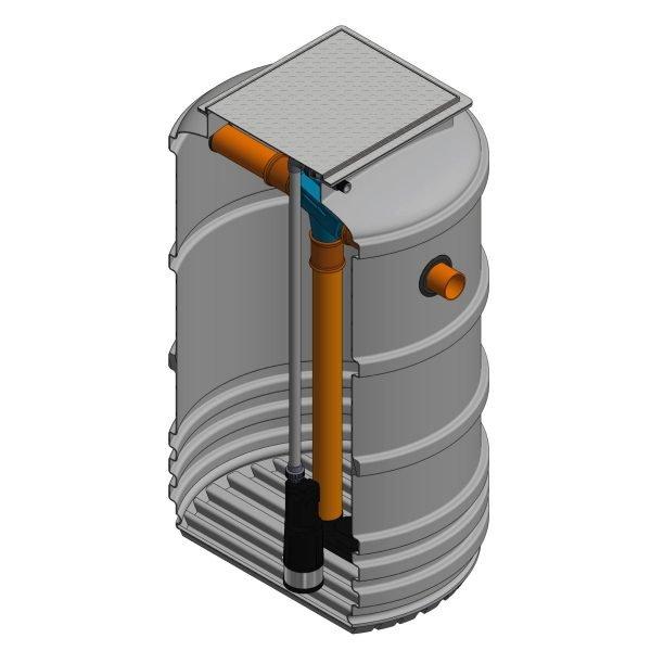 2200 litre underground garden rainwater harvesting system