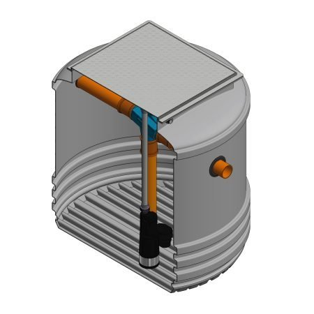 2400 litre underground garden rainwater harvesting system