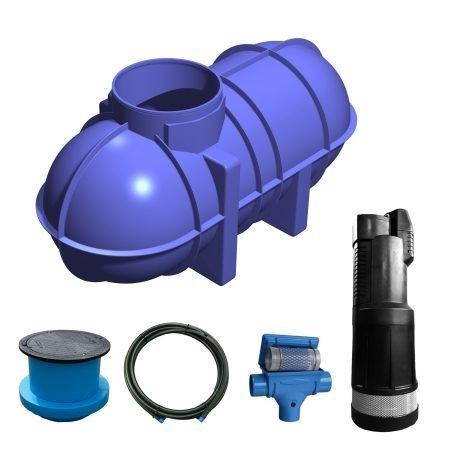 2600 litre garden rainwater harvesting system