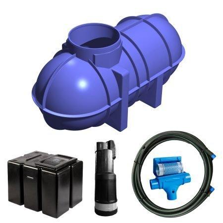 2600 litre gravity fed rainwater harvesting system 2