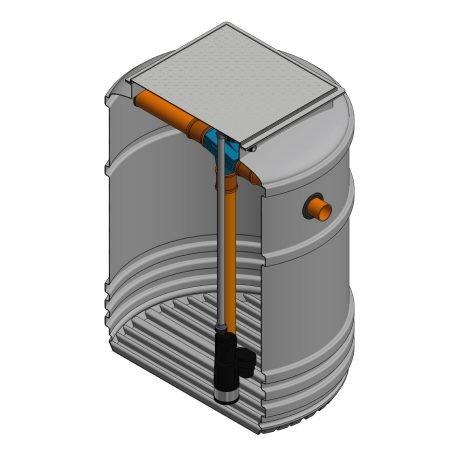 3300 litre underground garden rainwater harvesting system