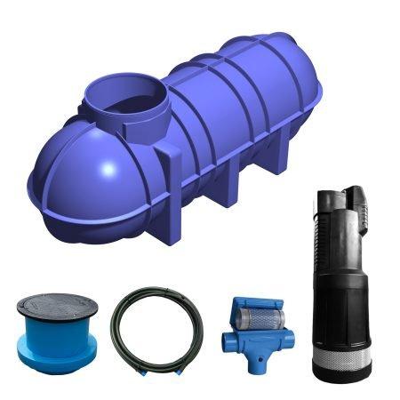 3400 litre garden rainwater harvesting system