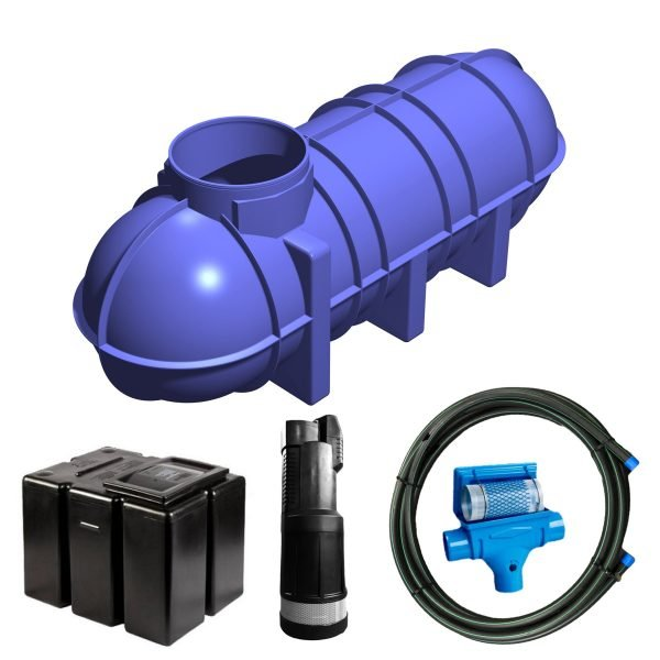 3400 litre gravity fed rainwater harvesting system 2