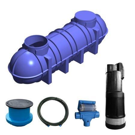 4400 litre garden rainwater harvesting system