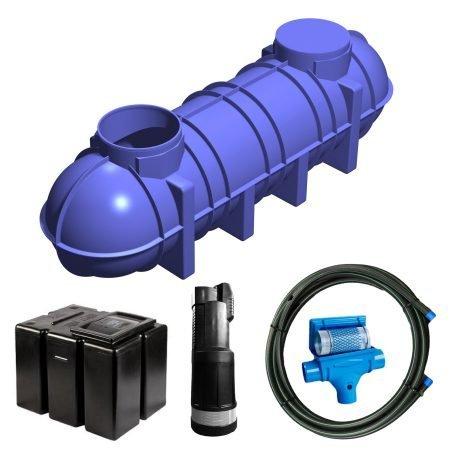 4400 litre gravity fed rainwater harvesting system