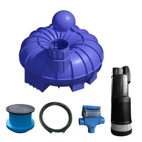 5200 litre garden rainwater harvesting system