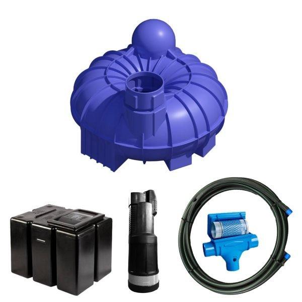 5200 litre gravity fed rainwater harvesting system