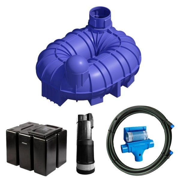 6800 litre gravity fed rainwater harvesting system