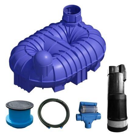 8400 litre garden rainwater harvesting system