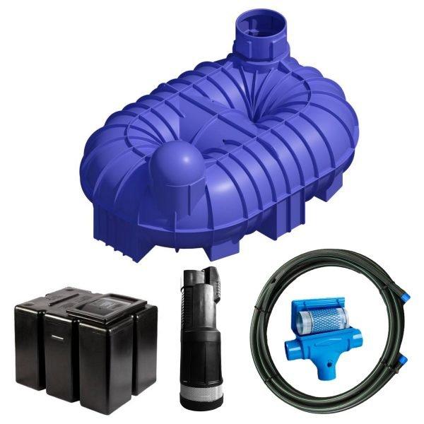 8400 litre gravity fed rainwater harvesting system