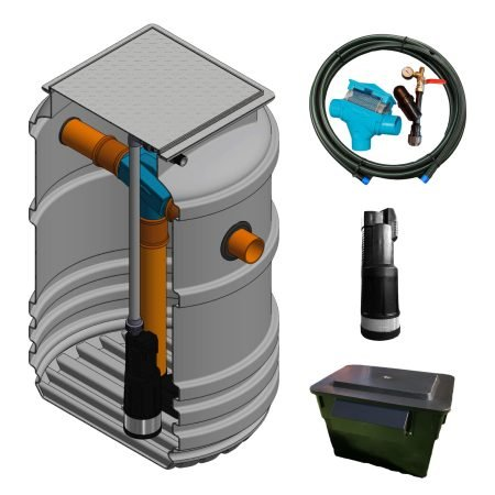 gravity fed rainwater harvesting system